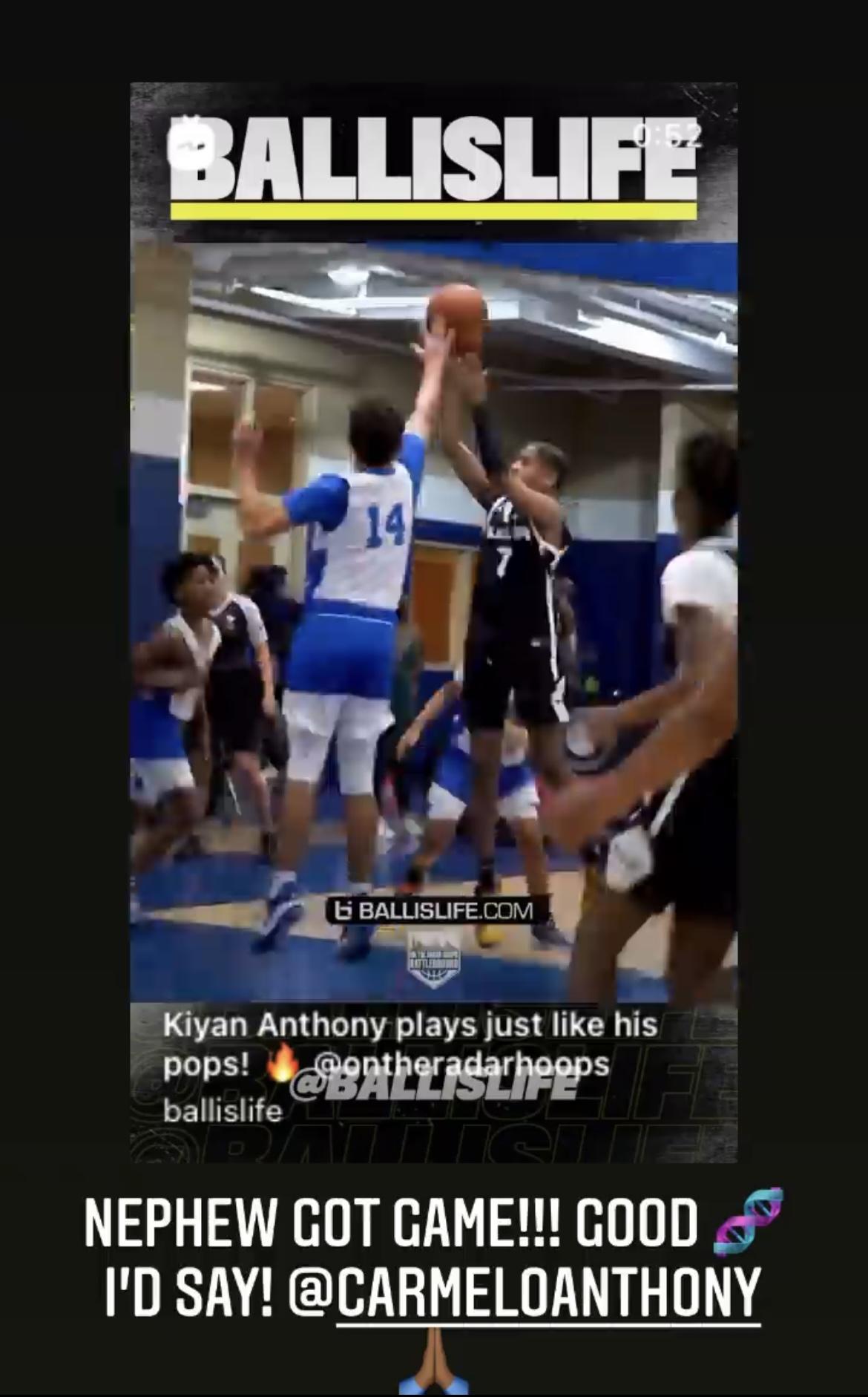 詹姆斯转发安东尼儿子比赛视频:侄子很会打球,有好的基因