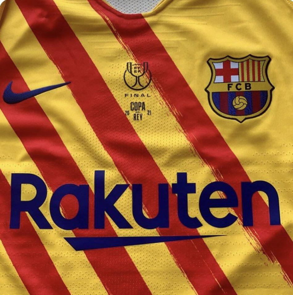 官方:国王杯决赛巴萨将穿红黄配色特别版球衣出战毕包