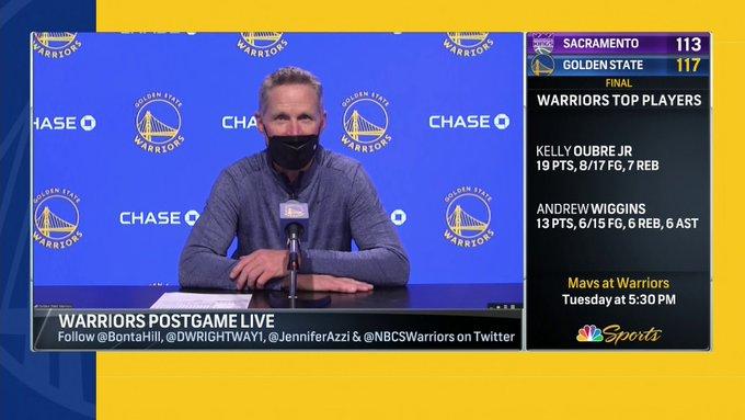 科尔:我们渴望回归季后赛,已经用尽了对库里的夸赞之词