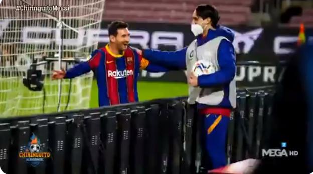 球童:不敢相信梅西找我庆祝进球,合影要留一辈子