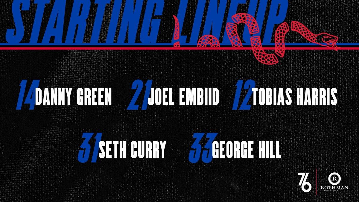 76人今日首发:恩比德,希尔,塞思,哈里斯和格林
