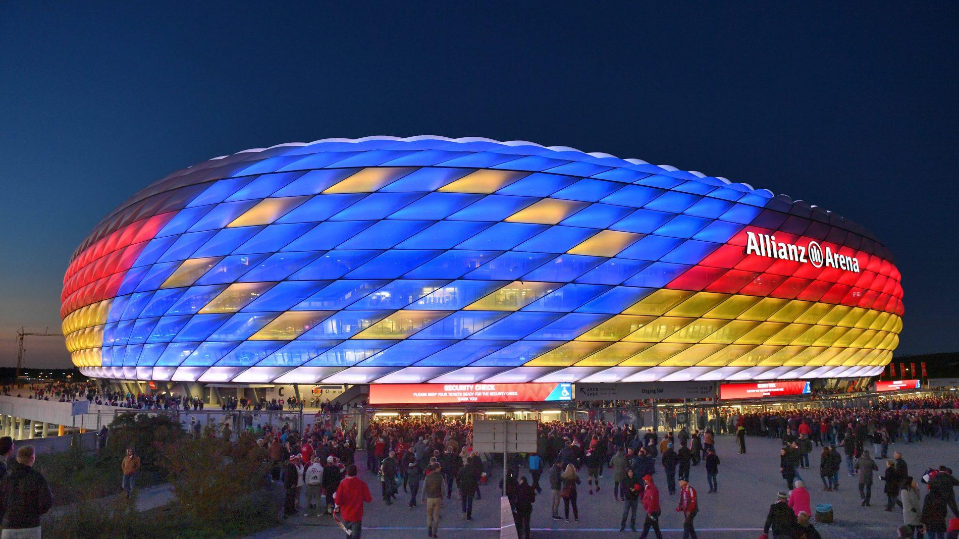 安联球场将承办欧洲杯德国队的小组赛,原定1/4决赛或取消
