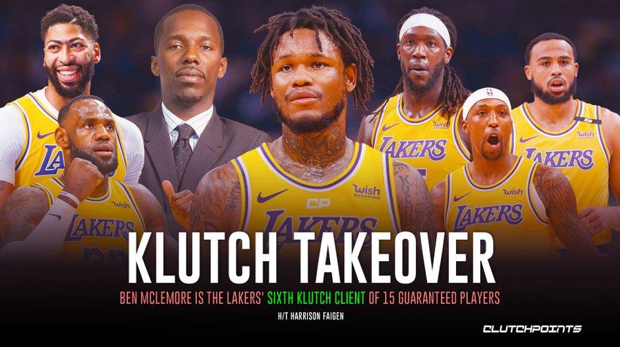 签下麦克勒摩后,湖人阵中已经有6名Klutch旗下NBA球员