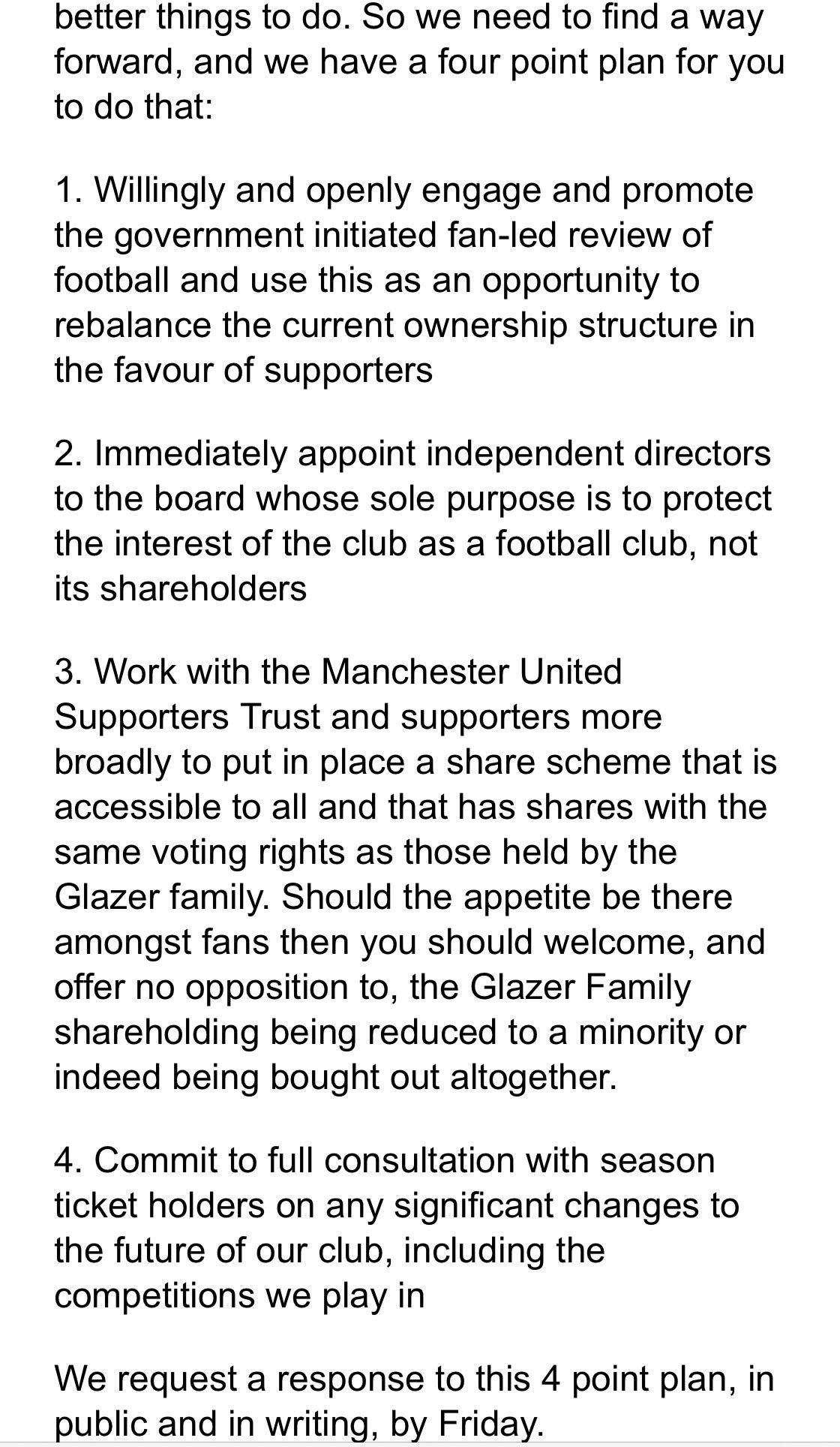 曼联球迷再发公开信:不愿意看见昨天的事,但希望得到回复插图(2)