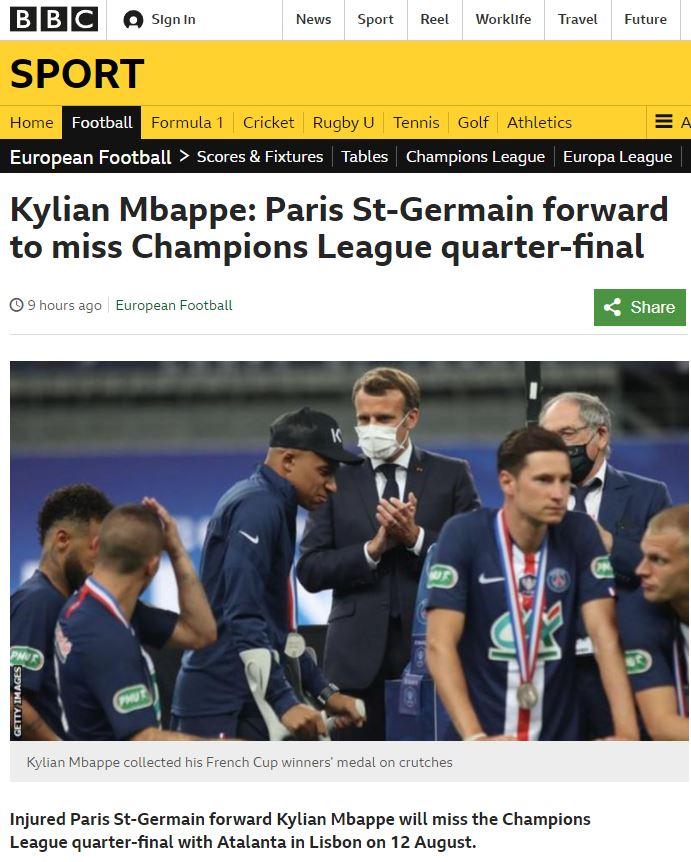 姆巴佩缺阵三周,将错过多场欧冠淘汰赛,但预计能赶上欧冠决赛  足球话题区