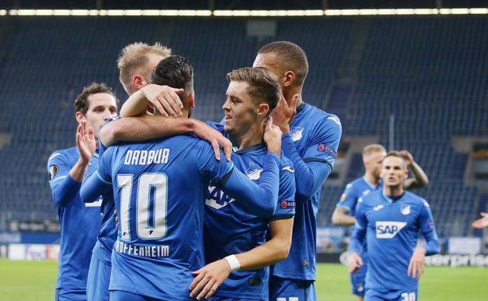 四连胜,霍芬海姆队史首次进入欧战淘汰赛