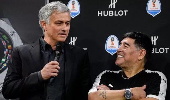 穆里尼奥谈马拉多纳:他一直支持着我,我很想念他