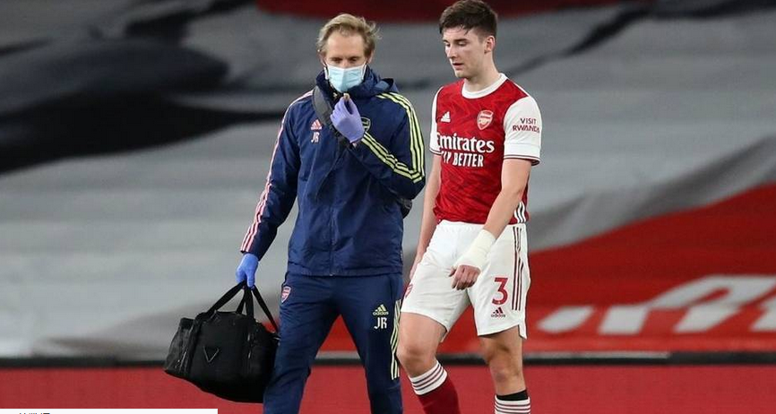 阿森纳官方:蒂尔尼左膝韧带受伤,参加英文4-6周