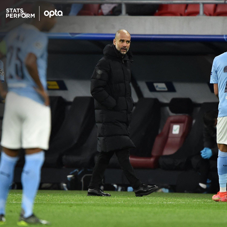 瓜迪奥拉迎来教练生涯第60场欧冠淘汰赛,仅次安切洛蒂