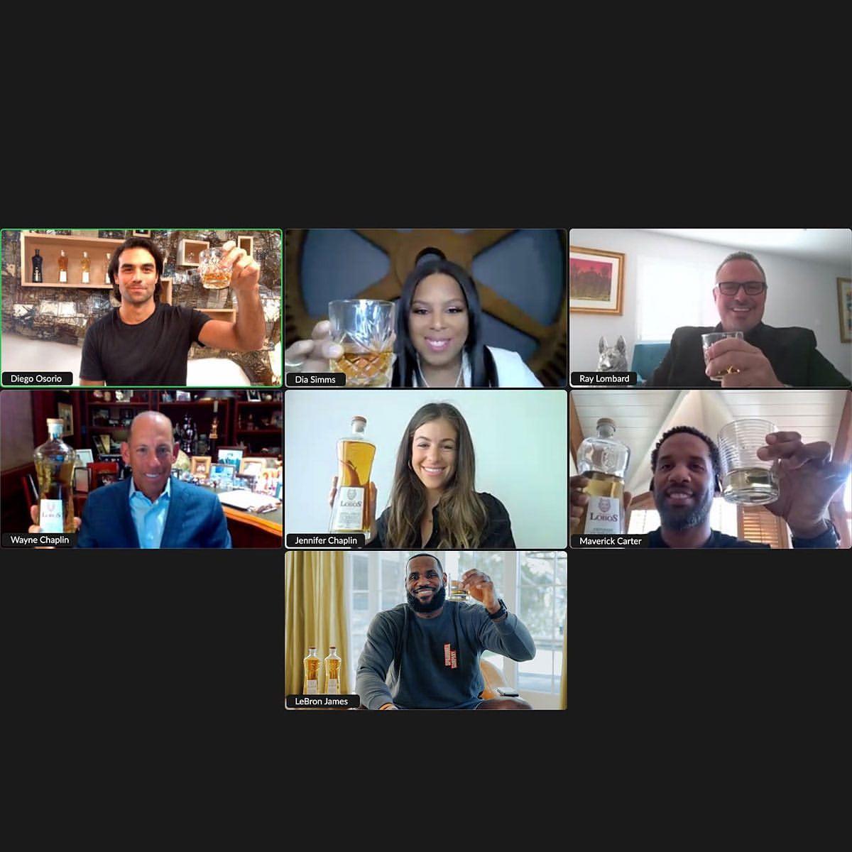 詹姆斯晒视频连线举杯庆祝合照宣传个人旗下酒品商业合作插图