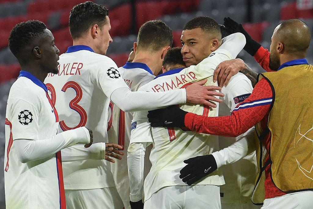 欧冠:姆巴佩双响穆勒破门内马尔2传,巴黎客场3-2拜仁
