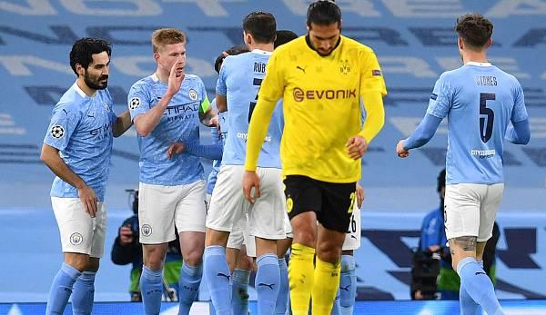 多特历史上7次欧冠淘汰赛首回合输球,其中有6次出局